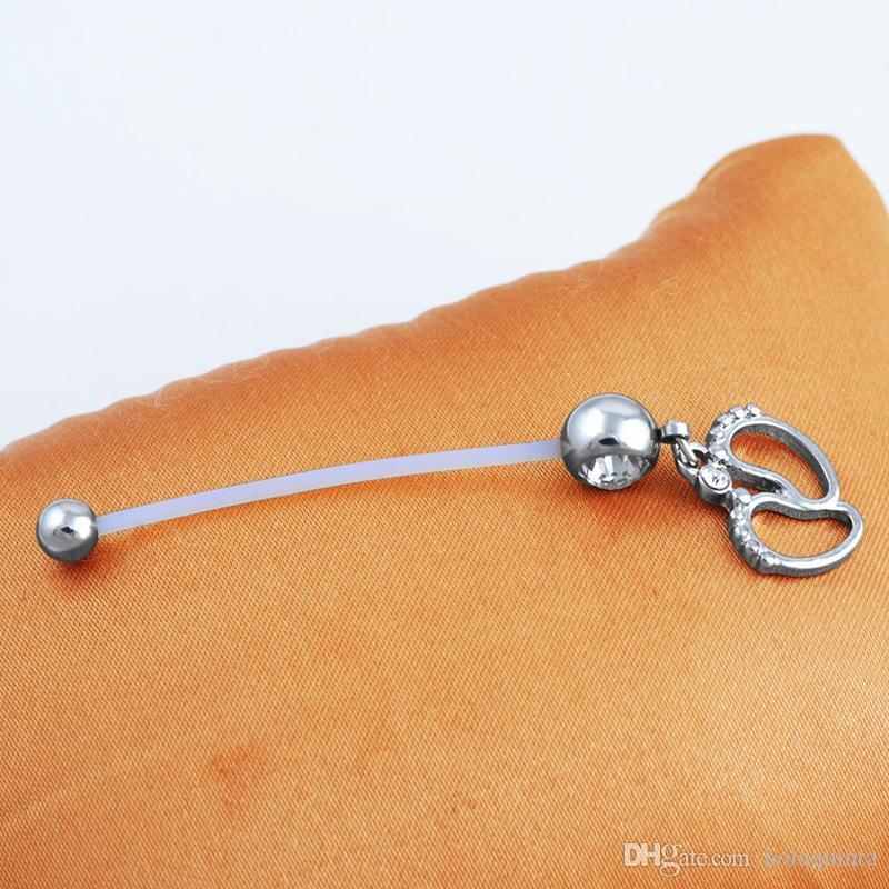 nombril grossesse bijoux CZ Baby Belly Belly Button Piercing anneaux de pied piercing bijoux de corps pour les femmes enceintes