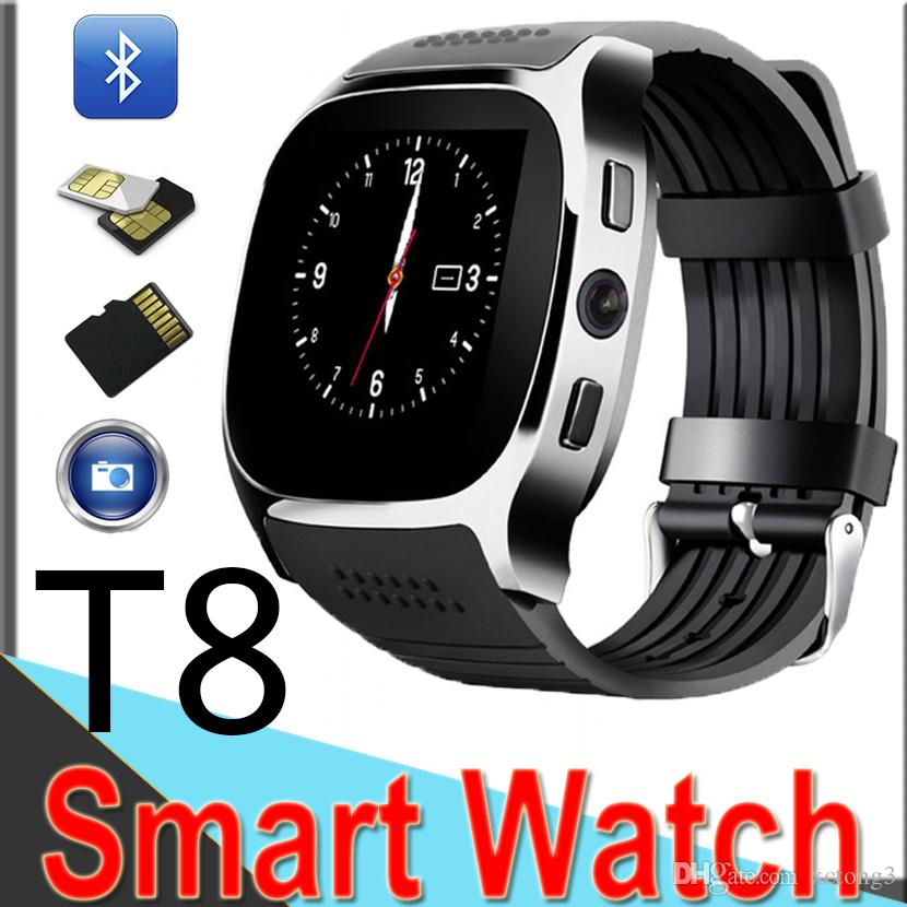 0a69b54d4 T8 Bluetooth Smart Pedometer Watches Support SIM  TF Card With Camera Cell  Phone Message Watch GT08 Xt7 Smart Watch Lelong Smart Watch Security From  Xctong3 ...