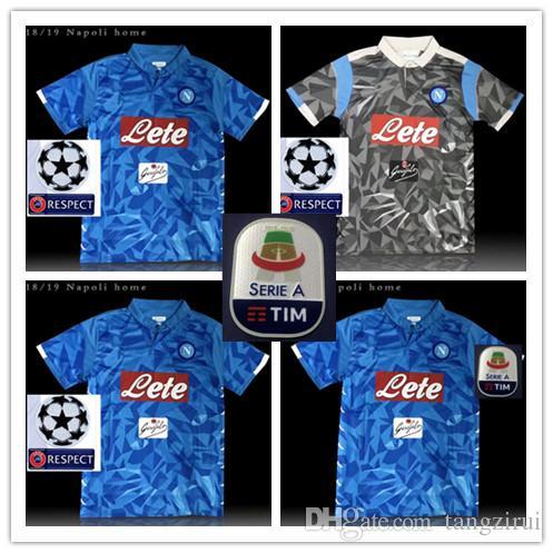 cheaper 41925 7a715 18 19 Serie A Naples New Napoli home soccer jerseys Napoli blue football  Jerseys Shirt for men 18 19 HAMSIK L.INSIGNE PLAYER Shirt