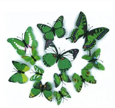 Environmental 3D Fashion Beautiful Full Color Removable Butterfly Wall Stickers for Fridge Living Room Home Decoration