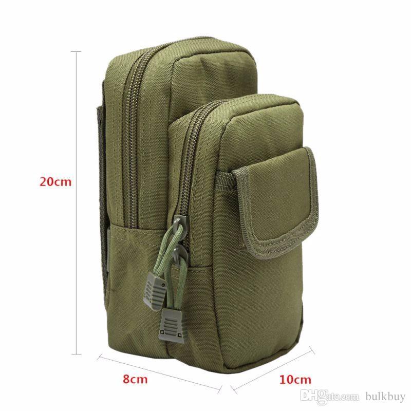Açık Askeri EDC Naylon Taktik Molle Bel Paketi Araçları Yardımcı Eşyalar Kılıfı Ekipman Paketleri Çanta