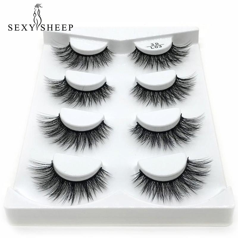 6c48f2c51ea SEXYSHEEP 3D Mink Lashes Natural Long False Eyelashes Dramatic Volume Fake  Lashes Makeup Eyelash Extension Silk Eyelashes Eyelash Extensions Makeup  From ...
