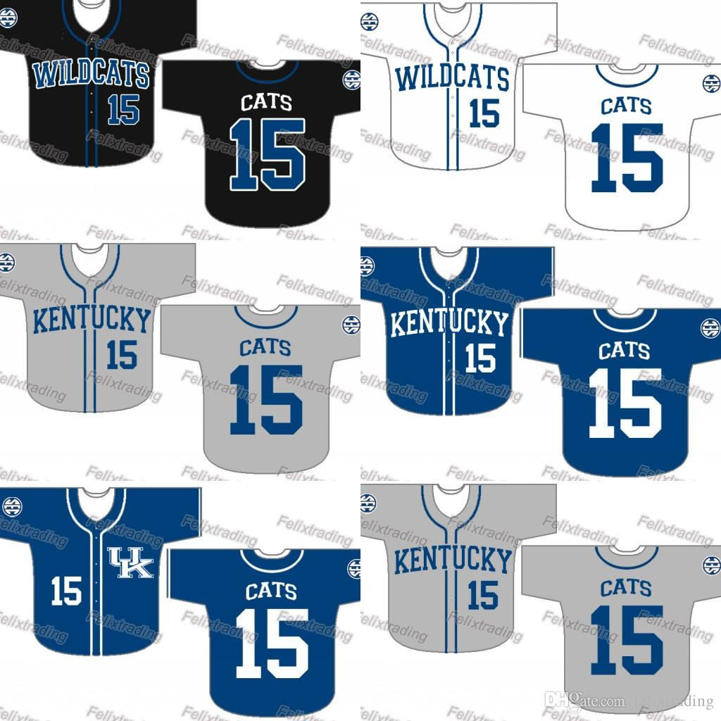 pretty nice 72f1a 05566 Custom Kentucky Wildcats Baseball Jersey Women Youth Men White All Stitched  Baseball Jerseys Fast Free Shipping