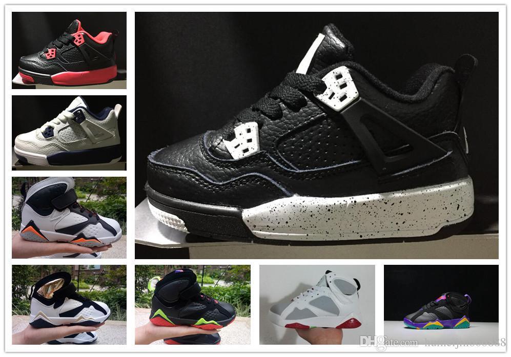 online store b71f6 e9786 Acheter Nike Air Jordan Aj4 Enfants Chaussures 4 IV Chaussures De Basket  Ball Chirldren Garçons Et Filles Enfants De  77.16 Du Humeijin666888    DHgate.Com