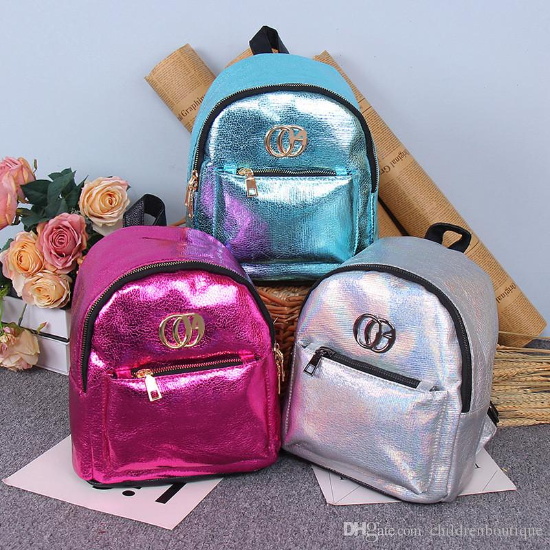 Fashion Teenager Girls Boys Backpack Children School Bags Sequins PU ... 2003a3e90cf6f