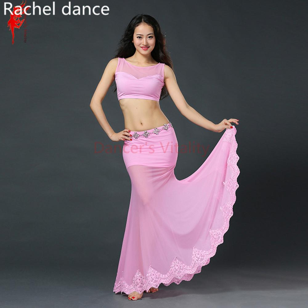 61aadcc03 2019 New Arrival Belly Dance Long Skirt Lace Dress Sexy Dancer Practice  Costume Set For Oriental Dance Costumes Gypsy Skirt From Laftfly, $49.39    DHgate.