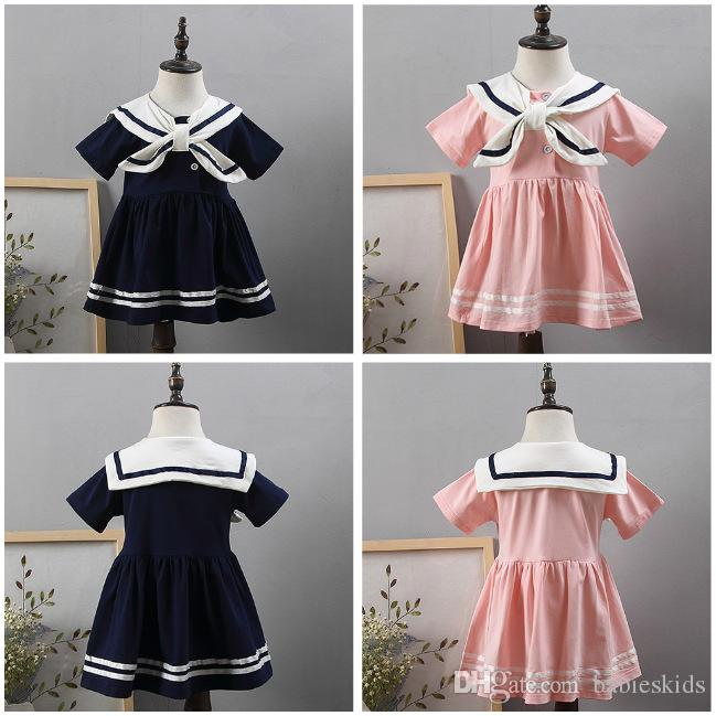Preppy Style Infant Girl Dress Baby Girls Clothes Cotton Baby Girl Costume Leisure For School Student Clothing