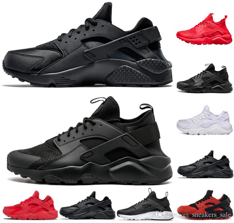 pretty nice d5ad4 5b547 Acheter Nike Air Huarache Shoes Huarache 4.0 1.0 IV Chaussures De Course  Pour Hommes Femmes, Triple Noir Blanc Baskets De Haute Qualité Huaraches  Chaussures ...
