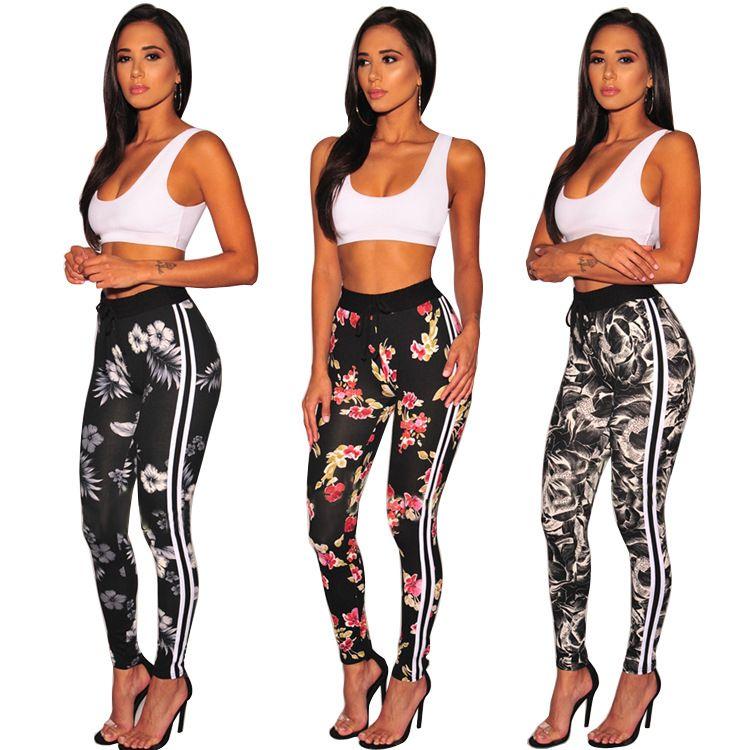 Vêtements de sport Survêtements pour femmes Bande latérale explosive Europe et Amérique Commerce extérieur Nouveau Jeu d'imprimés sport pour femmes