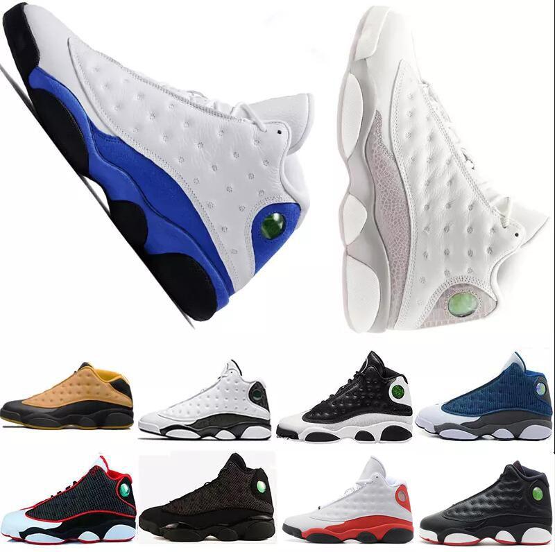 check out 33a8b c1ea1 Großhandel Chaussures Herren Basketballschuhe 13 13s Schwarze Katze Hyper  Royalblau Olive Weizen GS DMP Chicago Mann Lässig Sport Sneaker Schuhe  Trainer PE ...