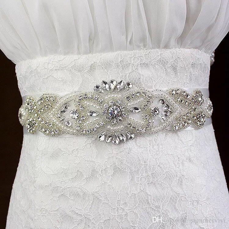 Glitter Girls strass ceinture boutique enfants perlé strass enfants ruban Bows cristal princesse ceinture accessoires de mariage de mariée YA0237