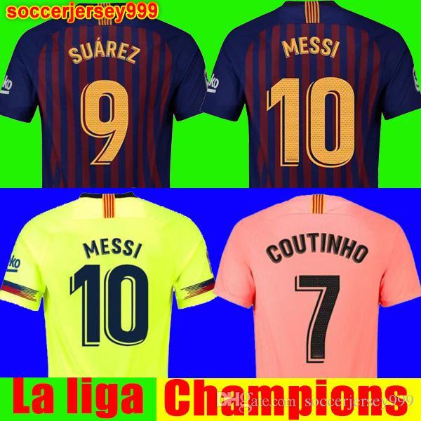 2018 2019 FC Barcelona Soccer Jersey Football Shirt Chandal Jersey De Fútbol  Messi COUTINHO Hombres Adulto INIESTA O.DEMBELE 18 19 Camiseta De Fútbol ... ffc0307675559