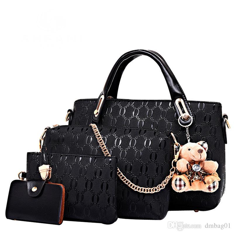Rose sugao 2018 nouveau style / set mode sac à main avec ours Lashes concepteur sacs à main fourre-tout sac à bandoulière sac à bandoulière femmes messenger sac à bandoulière