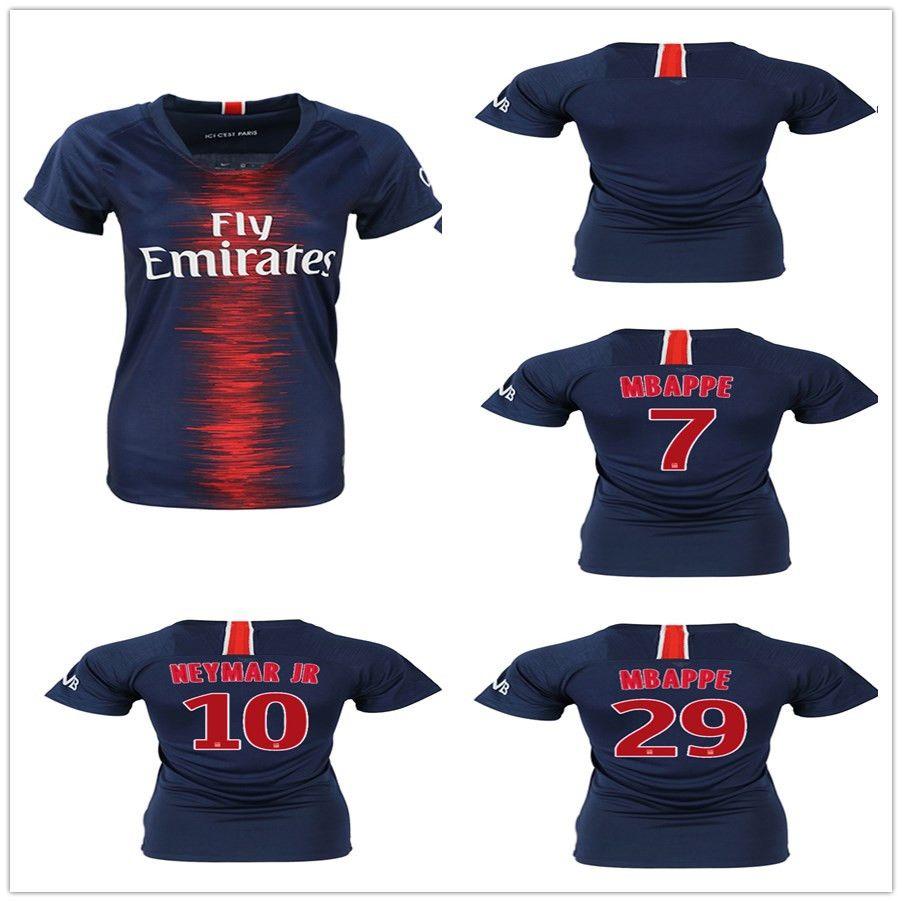 Compre Camiseta De Fútbol 2018 2019 FC Paris Saint Germain 10 NEYMAR JR 7  MBAPPE 9 CAVANI 27 PASTORE 11 DI MARIA Camiseta De Fútbol Kits A  19.89 Del  ... 967ce2df3688c