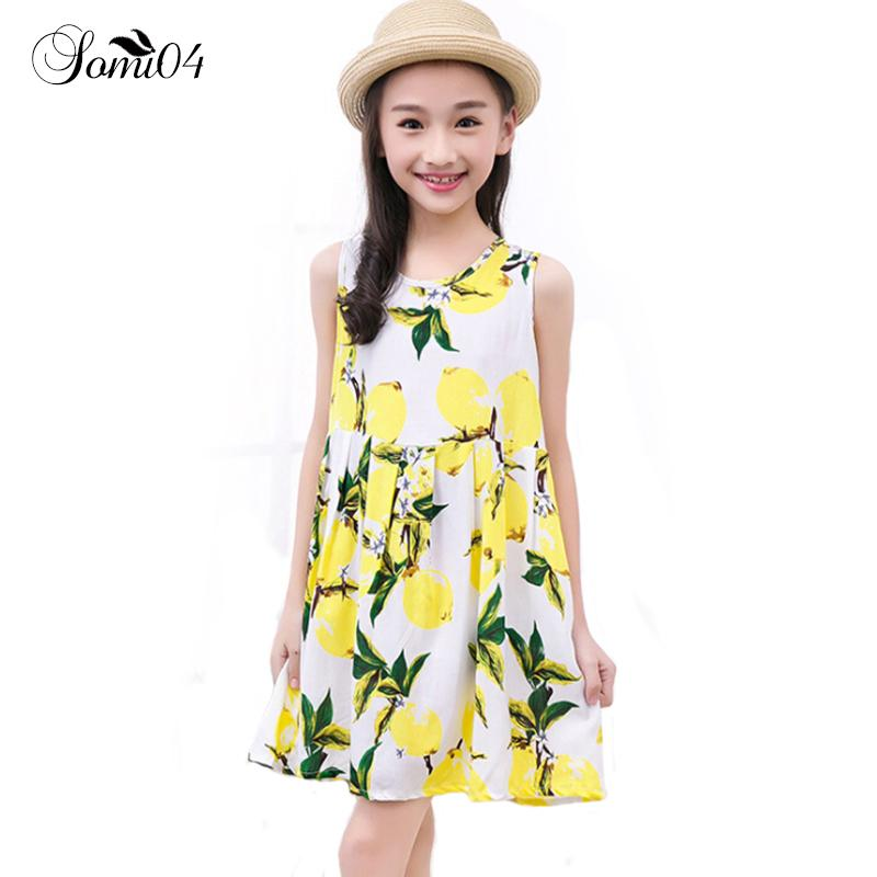 f112eb79dec7 Summer Nightgown For Kids 2 4 6 8 10 12 13 Years Toddler Girls Casual  Clothes 2018 Sale Children Flower Pattern Vest Night Dress Y18103008 Best  Pjs For Kids ...