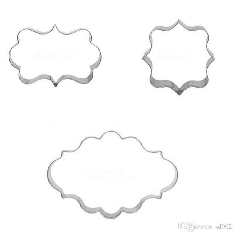 Stampo torta in acciaio inox Curling Design Cookie Mold Sicuro alta durezza Fondant Kitchen Bar Stampi da forno multifunzionali 1 2 dz Y