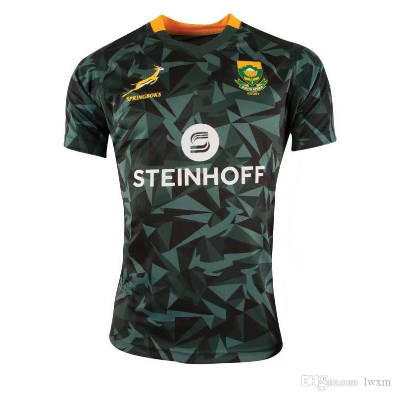 0bc5d61ed Best Quality 2018- 19 Mens South Africa Fan 7s Home Rugby Shirt ...