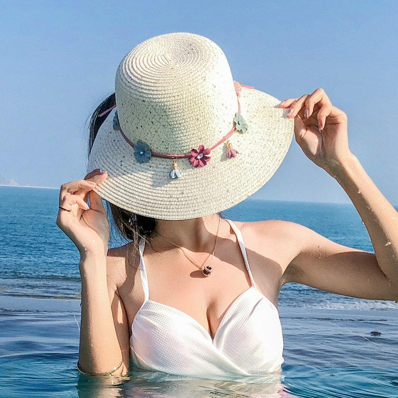 18 Designs Summer Leisure Floppy Straw Hats Casual Vacation Wide Brimmed  Sun Hats Foldable Beach Chapeu Feminino For Women Panama Hats Fedora Hats  From ... c60c6a5a48a