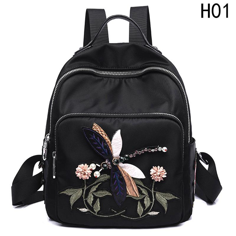 035fb4f815 Hot Sale Small Backpack Quality School Bags For Teenage Girls Handmade 3D  Dragonfly Embroidery Shoulder Bags Daypacks Black Rucksack Jansport  Backpacks From ...