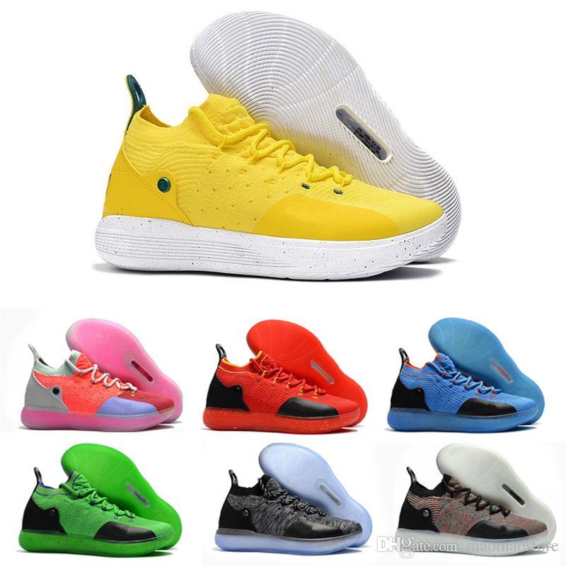 size 40 6e0de 8bf46 Compre Nike Los Más Nuevos Zapatos De Diseño Zoom KD 11 Anniversary PE Hombres  Zapatos De Baloncesto KD XI Elite Low Kevin Durant Athletic Sport Sneakers  ...