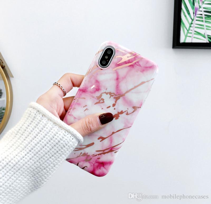 DHL gratuit vente chaude cas de marbre pour iphoneX 8 7 7 Plus luxe souple TPU couverture de mode pour iphone6s 6 plus 2018 nouvelle IMD cas