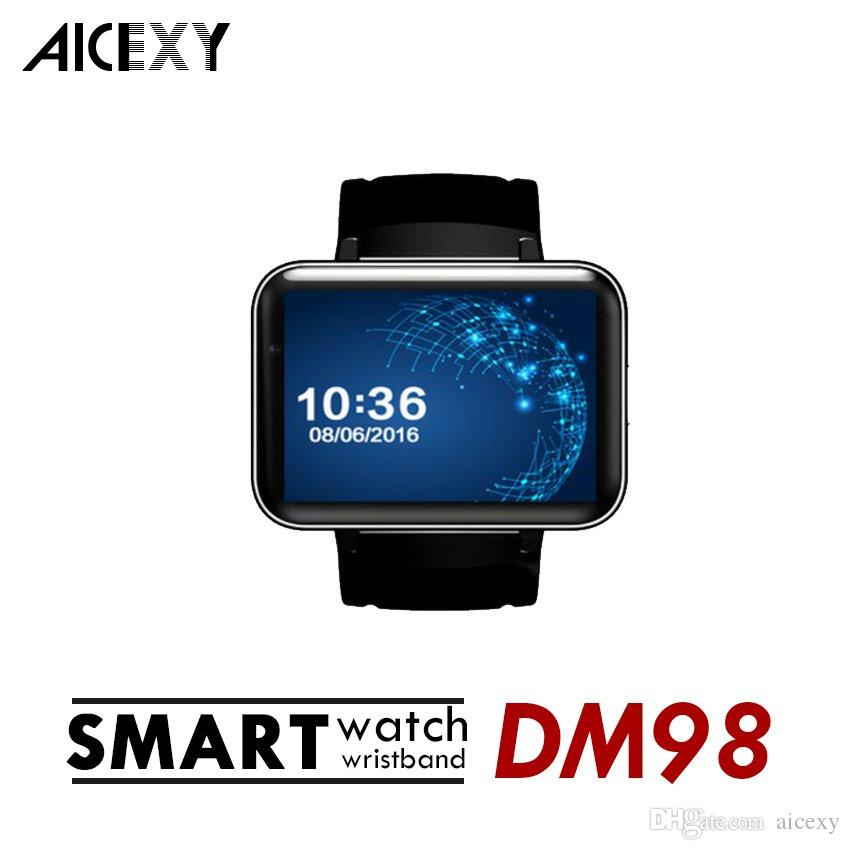 d11eb08f9d1 Smart Watch DM98 Android 4.4 MTK6572 Dual Core 1.2Ghz 2.2 Inch IPS HD  900mAh Battery 512MB Ram 4GB Rom 3G WCDMA GPS WIFI Smartwatch Smart Watches  In 2015 ...