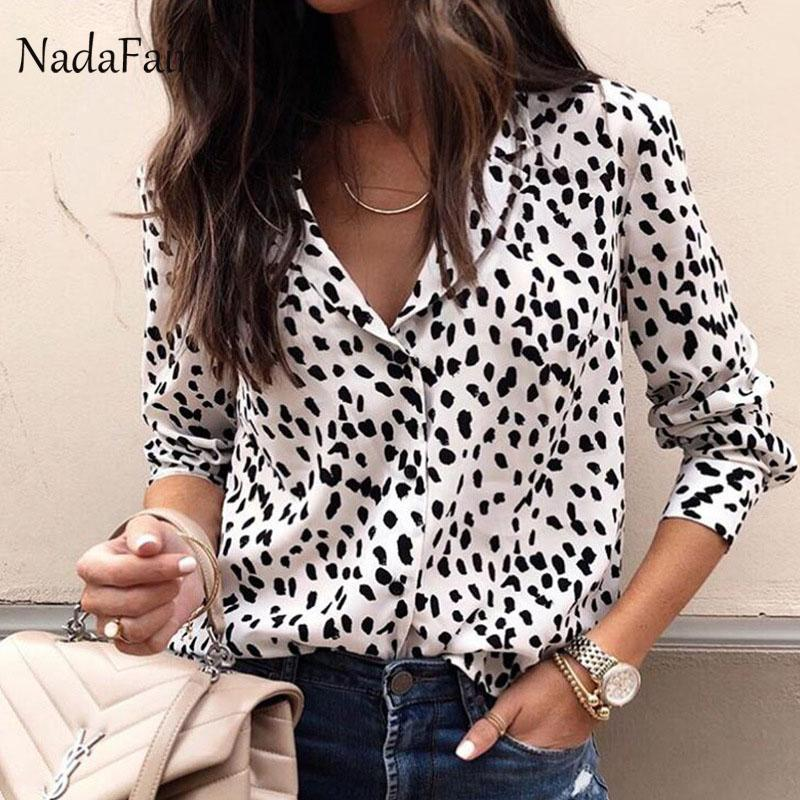2019 Nadafair Turn Down Collar Animal Print Leopard Blouse Women Long  Sleeve Slim Leopard Shirt Womens Tops And Blouses From Cover3127 7d601a02a
