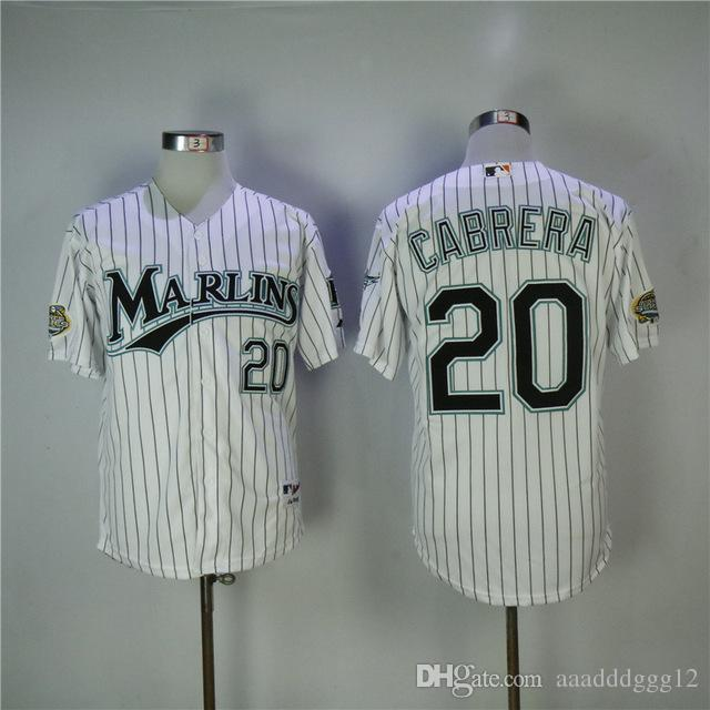 premium selection 095b7 bb6b9 Men s Florida Marlins 20 Miguel Cabrera 35 Dontrelle Willis 8 Andre Dawson  Baseball Jersey Free Delivery