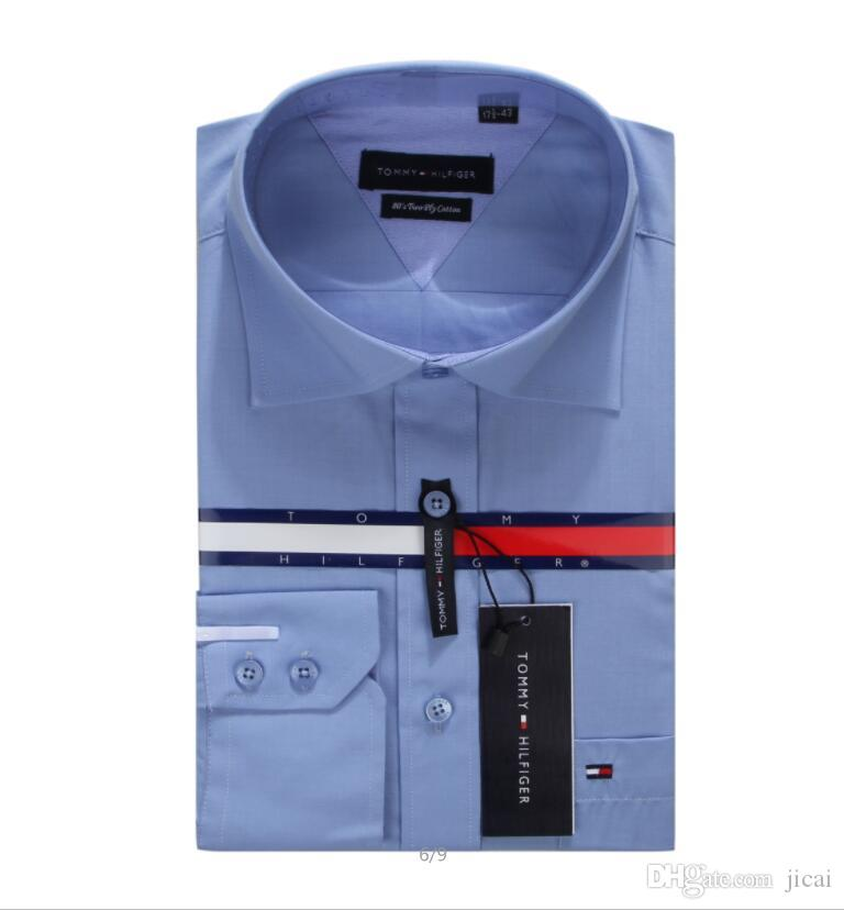 الجملة الجديدة عالية الجودة قمصان رجالي مصمم العلامة التجارية أزياء فستان عارضة القميص مع أزرار أكمام الفرنسية شحن مجاني # 5818