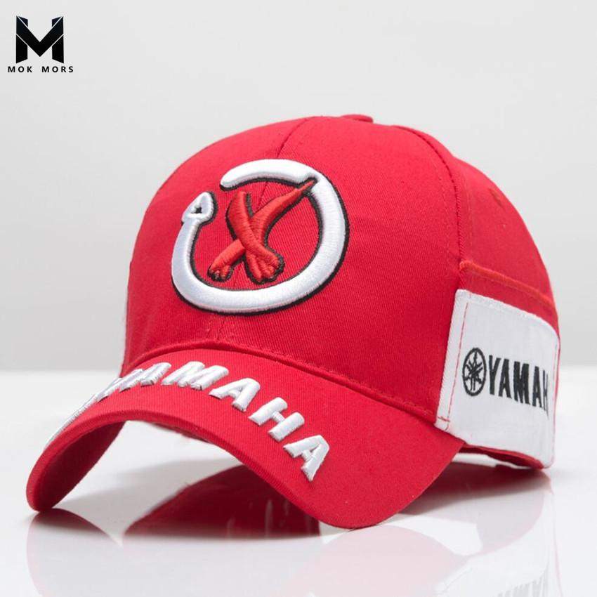 2018 New Mens Snapback Caps Wholesale Rossi 3D Embroidery Baseball Cap Hat  Motorcycle Racing Cap Men YAMAHA Brand Baseball Baseball Hats Newsboy Cap  From ... f4612223e83