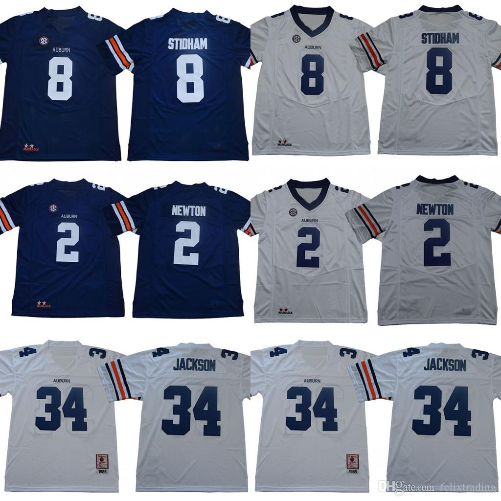 28b43d24a73 ... cam newton mens college football jerseys white blue; low price sale  bc831 d47b2 2018 2018 new 34 bo jackson 2 cameron newton auburn tigers