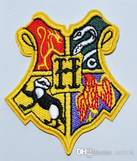 dbba105a1ae Harry Potter HOGWARTS Gryffindor Hufflepuff Ravenclaw Slytherin Iron On  Patches