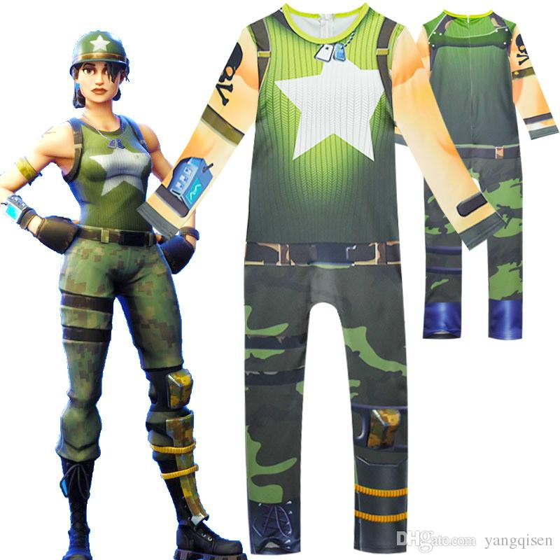 acheter 2018 halloween fortnite battle royale jumpsuit costume cosplay costume kids streetwear body de fille de 16 42 du yangqisen dhgate com - deguisement fortnite jouet club