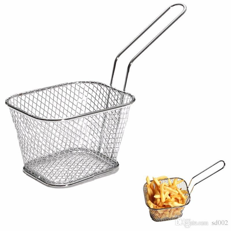 Mini Braten Körbe Küche Kochwerkzeug Metall Französisch Frites Basket Siebe Hohe Qualität 5 5br C R