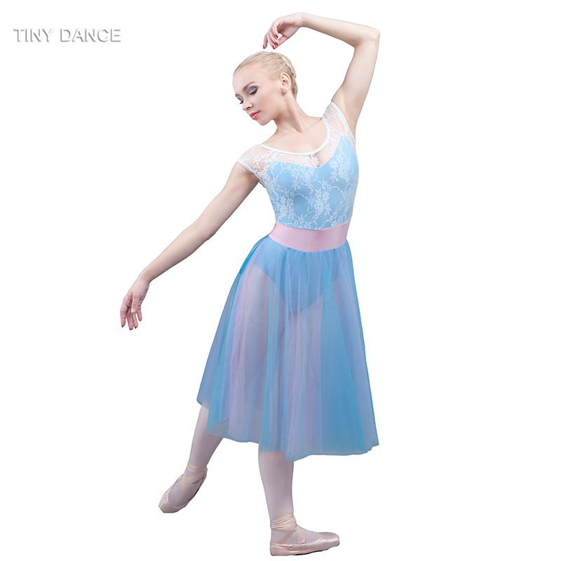 5fb3e1fbbba5 2019 Girls And Women Lrical And Contemporary Dance Costumes Sky Blue Ballet  Dance Dress For Performance White Lace Dresses 18011 From Veilolive, ...