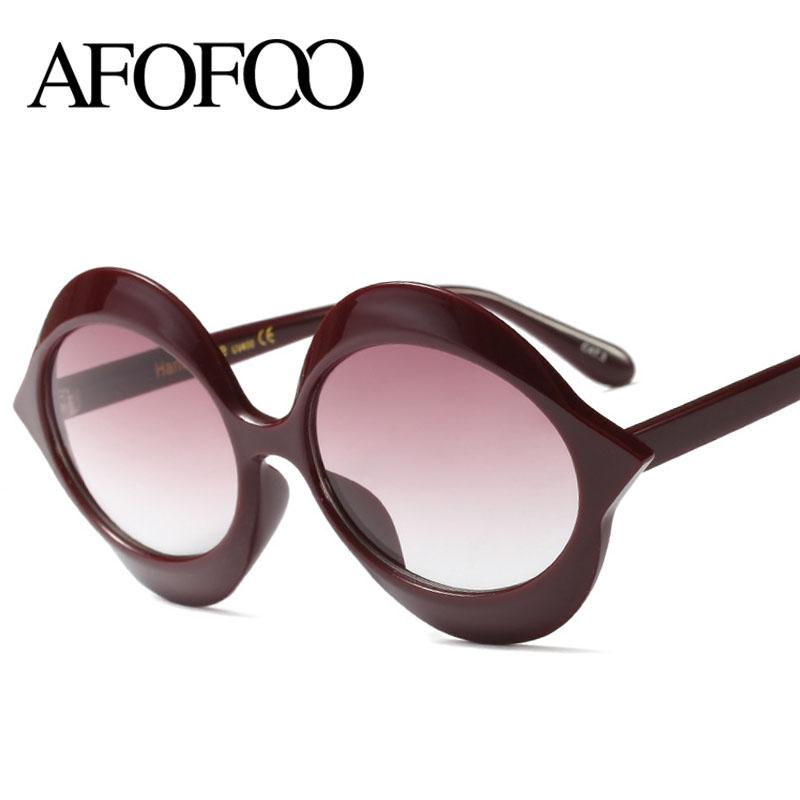 38f0510ccfd AFOFOO Fashion Design Women Sunglasses Sex Round Lady Sun Glasses Oversized  Gafas Vintage Eyewear Shades UV400 Oculos De Sol Smith Sunglasses  Sunglasses At ...