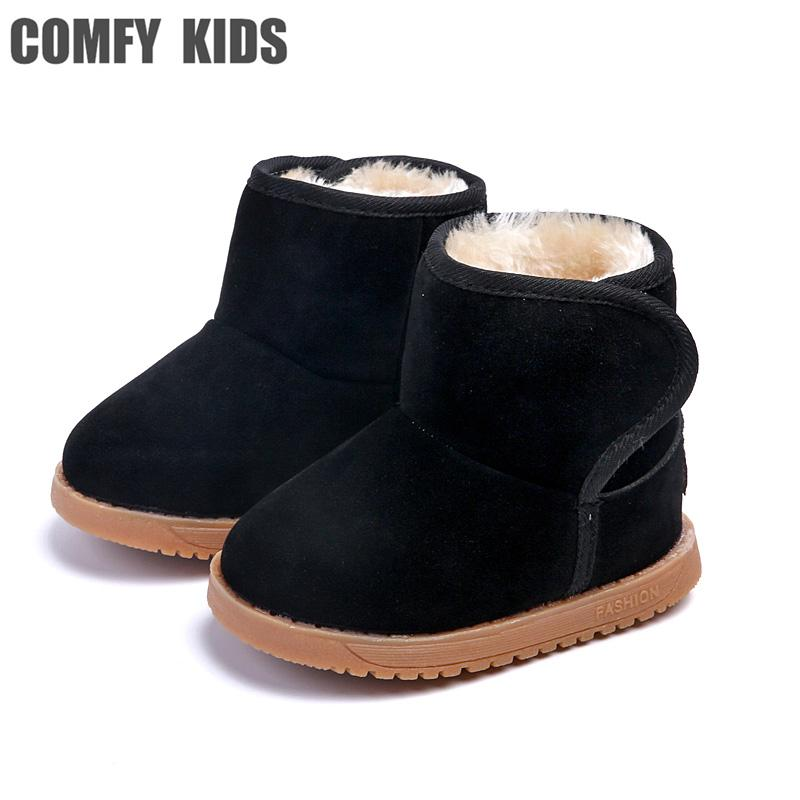 43a1129ab Compre COMFY KIDS Botas De Nieve Zapatos Para Bebé Niñas Muchachos Botas De Nieve  Zapatos De Moda Felpa Caliente Dentro Del Bebé Niño Pequeño A  38.37 Del ...