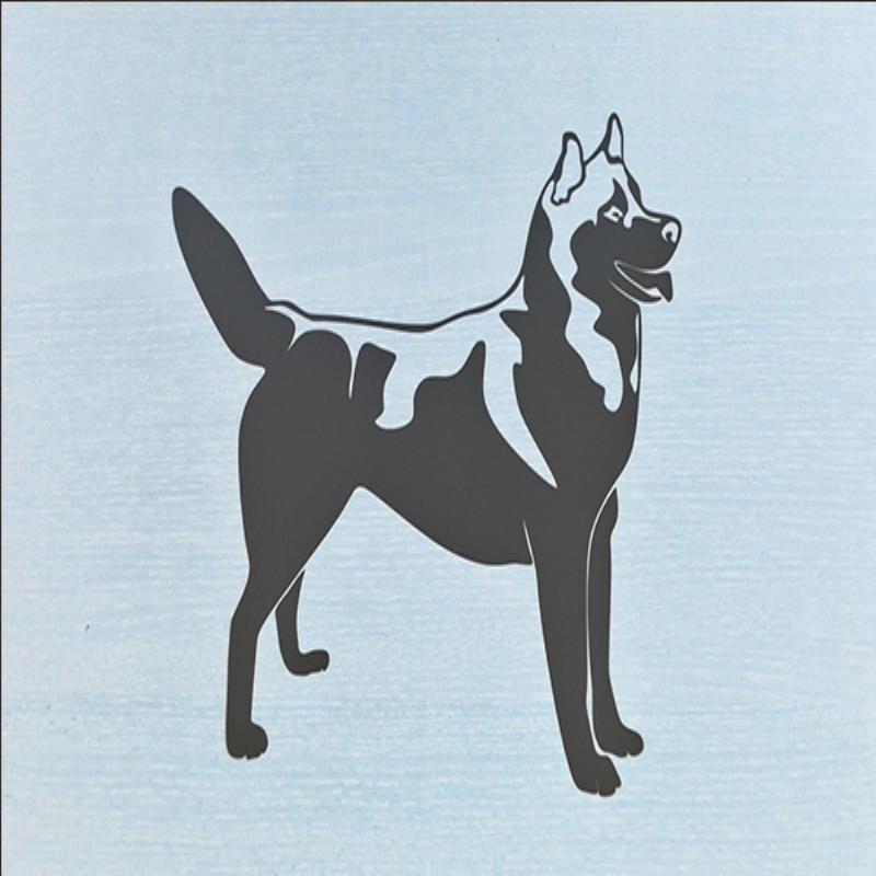 2019 Hotmeini Wholesale Siberian Husky Silhouette Car Sticker For
