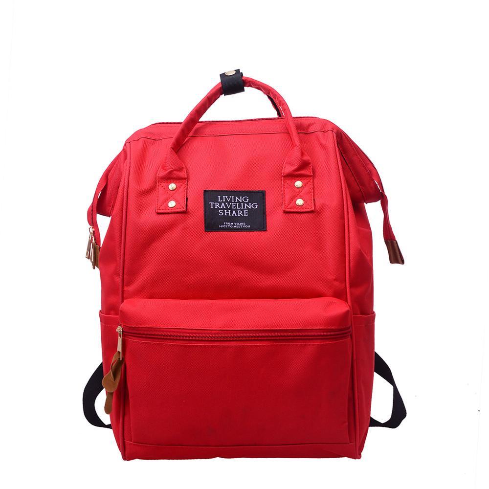 0b595c72ea14 Backpack Living Travelling Share Unisex Solid Backpack School Travel Bag  Double Shoulder Bag Zipper 2018  Zer One Strap Backpack Backpacking  Backpacks From ...