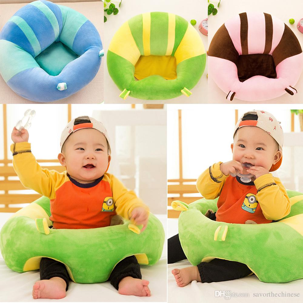 Baby Support Seat Plush Soft Baby Sofa Infant Learning To Sit Chair Keep Sitting Posture Comfortable For 0-3 Months Baby