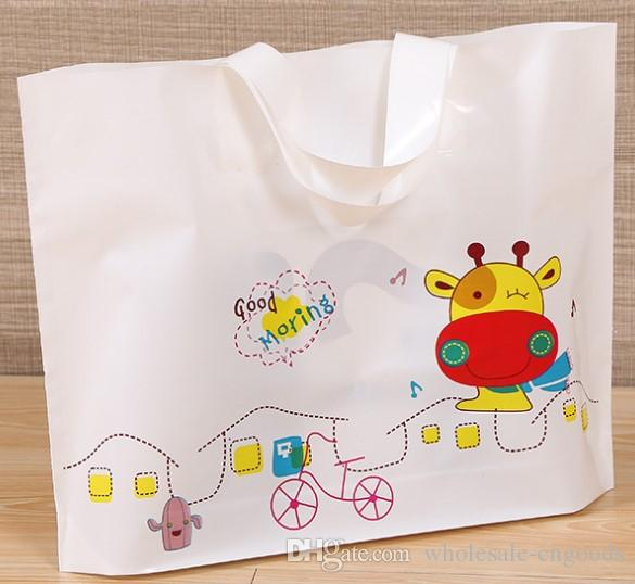 Clothing Bag Wholesale Cartoon Portable Shopping Gift Bag Plastic Bag  40cm 30cm+ Bottom 8cm Gifts Bag Packing Bags Clothing Bag Online with   40.0 Piece on ... eb63fb8f2c
