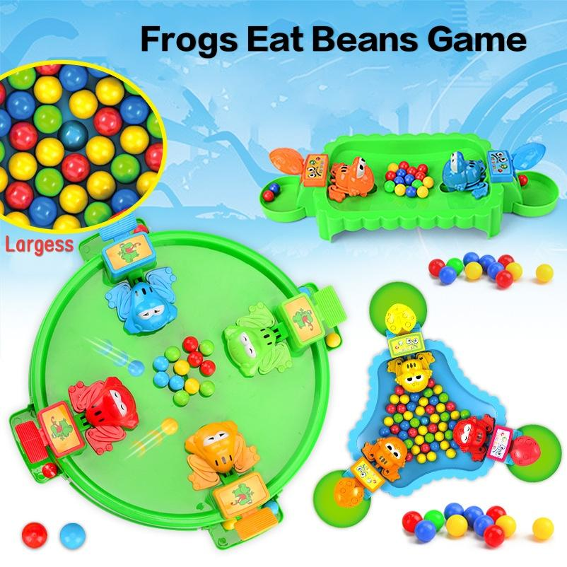 Frogs Eat Beans Plaything Multiplayer Genitore Child Interactive Puzzle Game Feeding Frogs Tempo libero Gioco Nuovi strani giocattoli