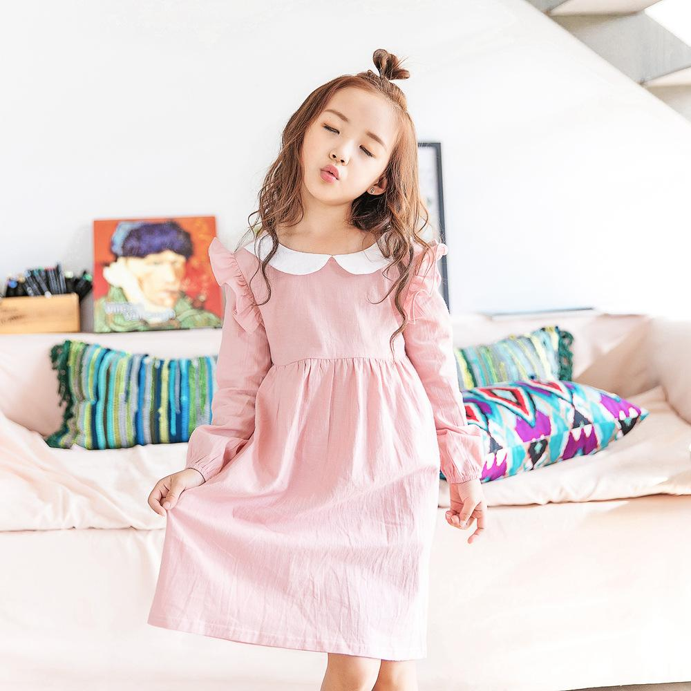 b17216caf 2019 Girls Dress Spring Winter Kids Dress For Party Wedding Long ...