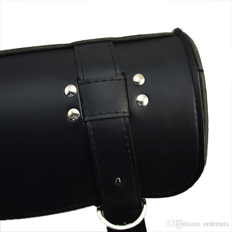 Fashion 4 styles Motorcycle ATV Faux Black Brown Leather Barrel Pouch Bag Tool Cool Auto Accessories Motorcycle Bag