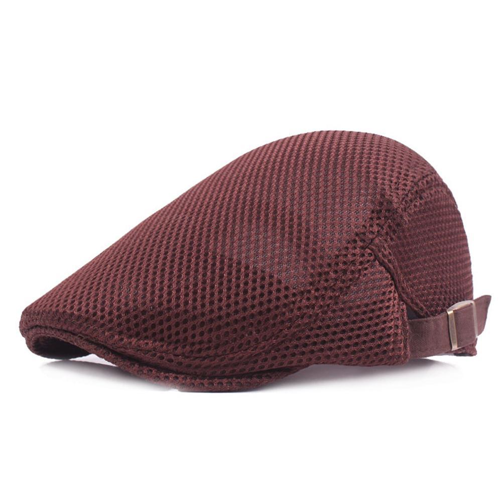 2de4b46e367 Men Breathable Mesh Summer Hat Newsboy Hat Ivy Cap Cabbie Beret Irish Flat  Cap Casual Unisex Breathable UK 2019 From Naixing