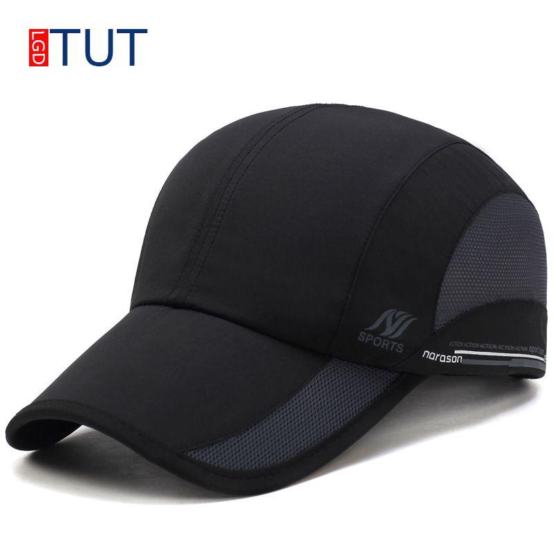 1b62ed69 New Summer Sport Mesh Baseball Cap Outdoor Sun Quick Dry Breathable Hats  Men Women Adjustable Waterproof Quick Drying Cap LGDTUT Hats For Men  Hatland From ...