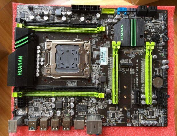 X79 Motherboard LGA2011 Desktop Board V2 49 ATX USB3 0 SATA3 PCI-E NVME M 2  SSD Support REG ECC 64G Memory and Xeon E5 Processor Mainboard