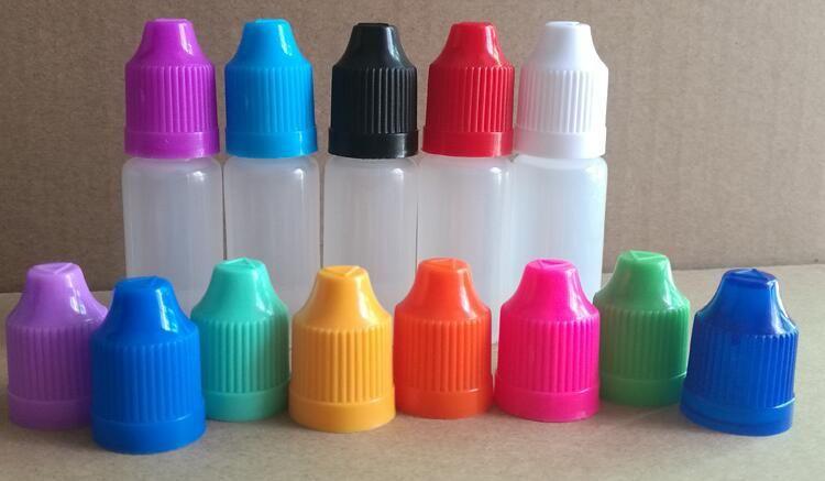 Bouteilles en plastique de compte-gouttes d'ANIMAL FAMILIER de bouteille liquide de 30ML E avec le chapeau de ChildProof et de longues pointes fines Bouteilles liquides claires d'oeil