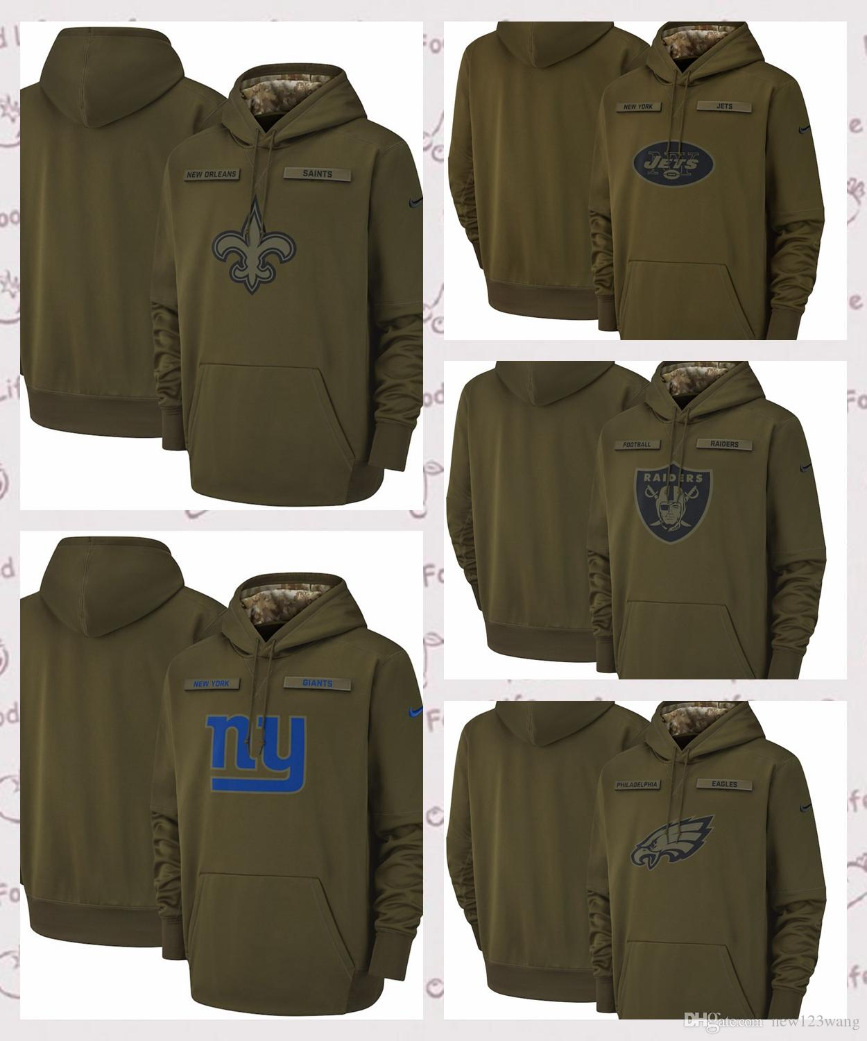 the best attitude 00346 290ff Philadelphia Eagles New Orleans Saints New York Giants Salute to Service  Sideline Therma Performance Hoodie