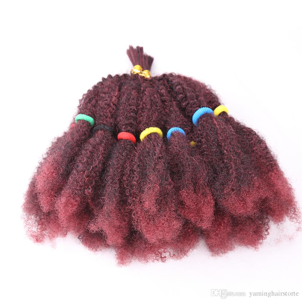 Moda Mega Afro Kinky torção Cabelo Sintético 22